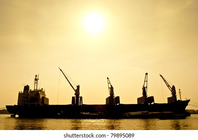 Silhouette  Transport Boat