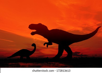 Silhouette  of Tyrannosaurus rex