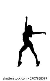 silhouette of urban ballet dancer