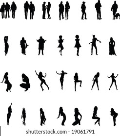 Silhouettes.