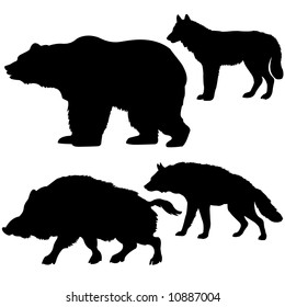 silhouettes of the beasts