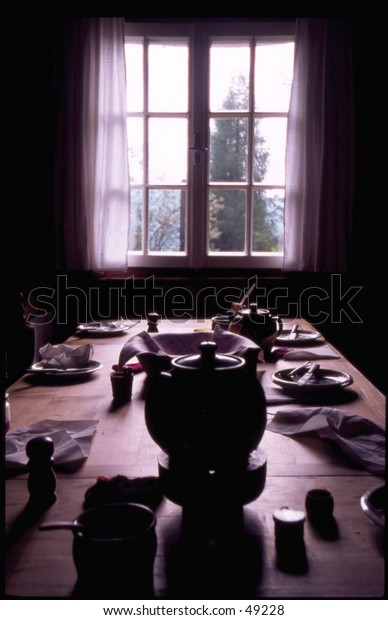 Silhouettes of breakfast
