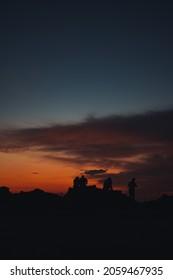 Silhouettes captured at Arkoudi, Ilia, Greece.