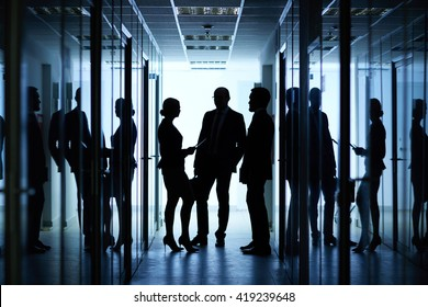 Silhouettes of colleagues