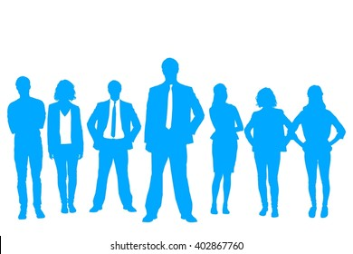 Silhouettes standing