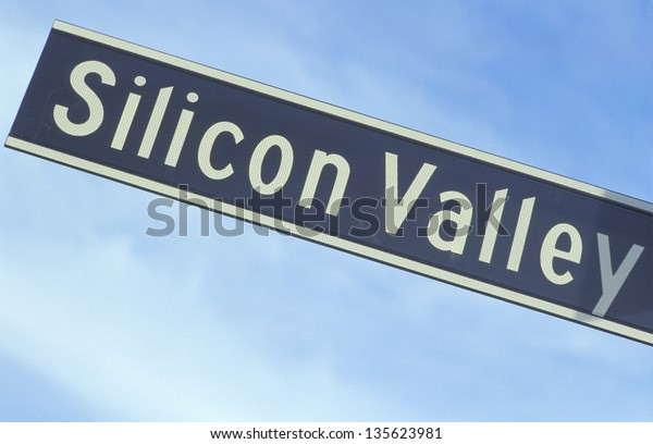 Silicon Valley sign against the sky (Slightly grainy, best at smaller sizes)