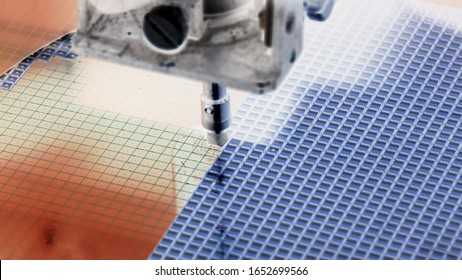 Silicon wafer negative color in machine in semiconductor manufacturing