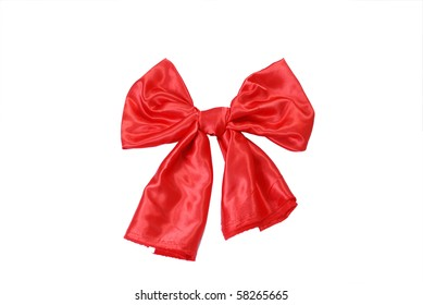 Silk bow isolated on white background