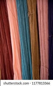 Silk dyed with natural colour, Thai silk.