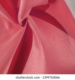Silk fabric in ruby red.