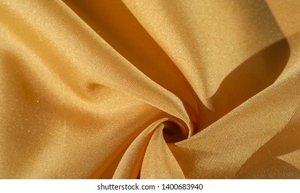 Silk fabric, yellow ECE / SAE amber. The photo is intended for, interior, imitation, fashion designer, marketing, architecture, sketch, layout, entourage