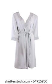Silk female robe isolated on white