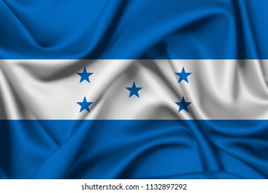 Silk flag of Honduras to use in country celebrations