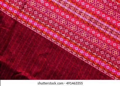 Silk handicraft close up,Fabric fashion design,Beautiful fabric pattern background