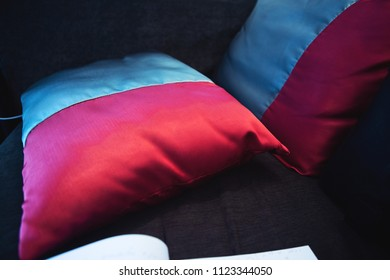 silk pillows in the living room