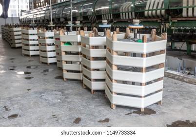 Silk thread produced by silk reeling factory