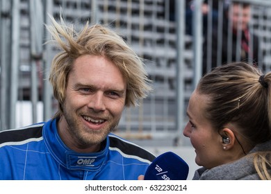 SILKEBORG, DENMARK - April 22-23 2017: Danish Thundersport Championship opening weekend - Felix Smith