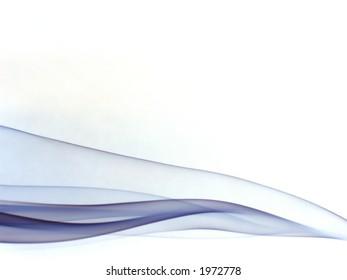 silky violet smoke trails, on white background