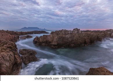 Silky Water and Moody Sky over Cape Town