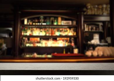 sill of dark and dark bar
