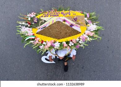 Silleteros Parade Flowers Fair Antioquia Colombia