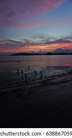 sillhouette the beach krabi
