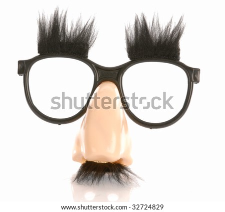 998c641530 Silly Groucho Marx Style Glasses Isolated Stock Photo (Edit Now ...