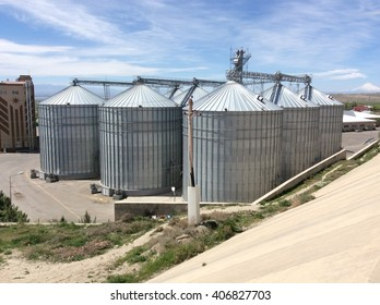 Silo wheat warehouse out of town