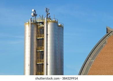 silos with antennas