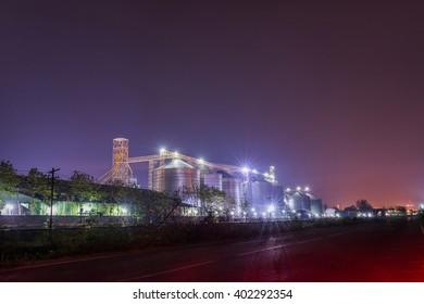 Silos in City