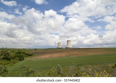 Silos in the Middle of Agricultural Field in a Rural Area