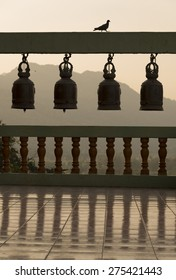 Siluate bells in Thailand buddhist temple