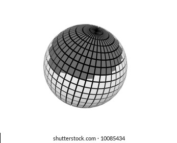 Silver 3D Sphere