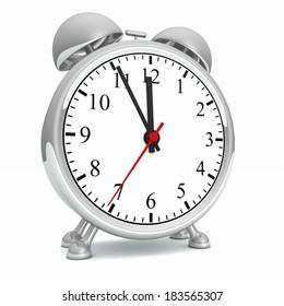 silver alarm clock 4