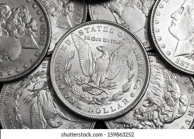 Silver american dollar