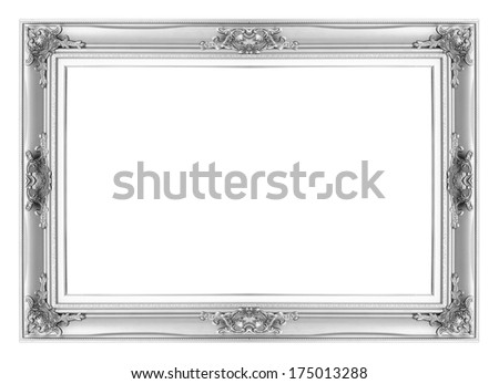 Silver Antique Vintage Picture Frames Isolated Stock Photo (Edit Now ...