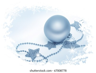 silver bauble and shiny stars