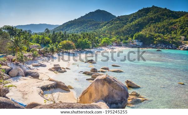 Silberstrand, Blick auf den Crystal Beach auf die Koh Samui Insel Thailand