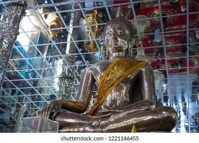 Silver Bhudda at Muang Temple Angthong