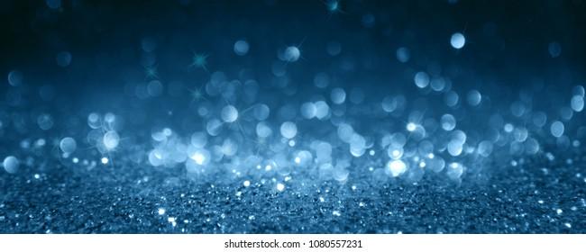 Silver blue bokeh