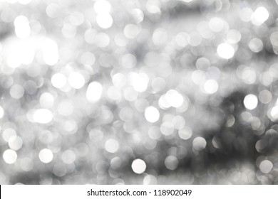 silver bokeh background macro close up
