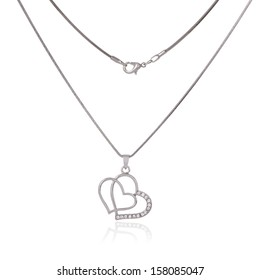 Silver chain stock images royalty free images vectors shutterstock silver chain and pendant in the shape of heart aloadofball Gallery