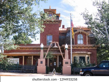 Silver City, New Mexico USA - July 23, 2007: Silver City Museum in the 1881 Allard House, built in Italianate mansard style. 312 W. Broadway