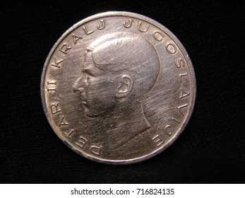silver coin close up