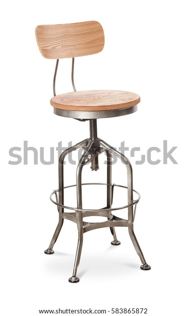 Pleasant Silver Color High Spinning Bar Stool Stock Photo Edit Now Inzonedesignstudio Interior Chair Design Inzonedesignstudiocom