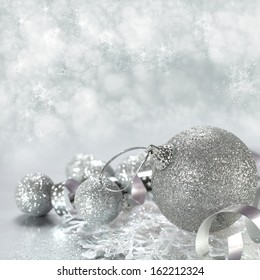 silver color of  xmas background