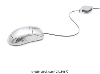 silver compuer mouse