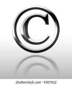 Silver copyright symbol