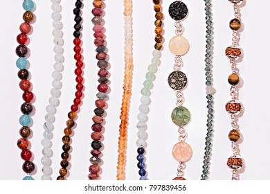 Silver Cristal Natural Stone Bracelet