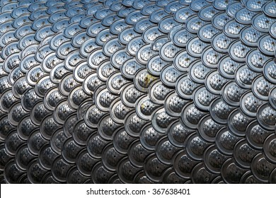 Silver dragon scales background and texture